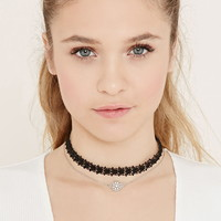 Feather Choker Set   Forever 21 - 1000171022