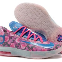 """Nike Zoom KD 6  Kevin Durant  Ⅵ """"Rose Blue""""  Basketball Shoes"""