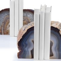 Agate Bookends | Naturally Gifted | Gifts | Z Gallerie
