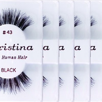 6packs Eyelashes - #43 (Same factory & production line as Red Cherry)