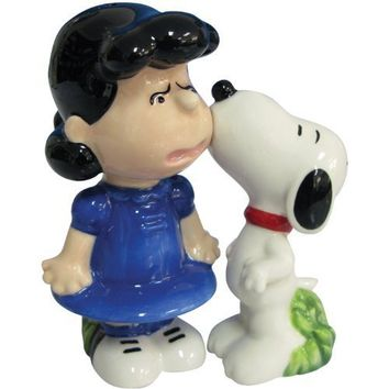 Westland Giftware Peanuts Magnetic Snoopy and Lucy Kiss Salt and Pepper Shaker Set, 3-1/2-Inch