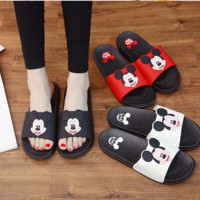 New style cork women's summer shoes Flat with sandals female slippers Mickey cartoon casual wear non-slip beach Flip Flops 2143