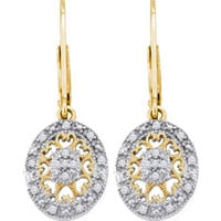 Diamond Fashion Earrings in Gold-plated silver 0.13 ctw