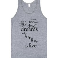 Harry Potter dreams tank top tee t shirt-Unisex Athletic Grey Tank