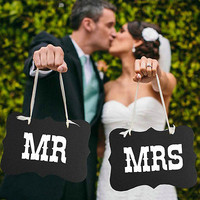 MR and MRS Wedding Favors Photography Props Photo Booth Banner Wedding Romantic