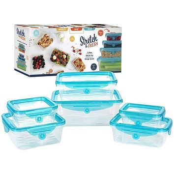 Stretch and Fresh 12 Piece Food Storage Container Set