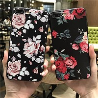 Vintage rose soft case for iPhone or Samsung