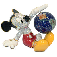 Disney Mickey Mouse Figurine with Globe by Arribas Brothers | Disney Store