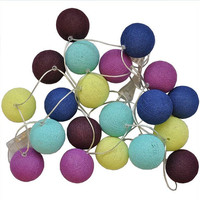Colorful Your Party with String Lights Cotton Ball