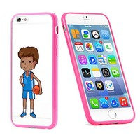 Popular Apple iPhone 6 or 6s Basketball Male Baller Player Cute Gift for Teens TPU Bumper Case Cover Mobile Phone Accessories Hot Pink