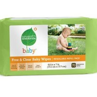 Seventh Generation Baby Wipes Refills, Chlorine Free and Unscented, 70-Count Packs (Pack of 12) (840 Wipes) | deviazon.com