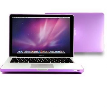 Macbook Pro 13 Case, GMYLE 2 in 1 - Purple Frosted Matte Rubber Coated Rubberized Hard Case for Apple 13.3
