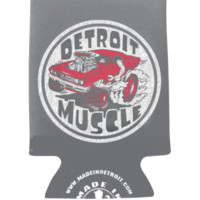Made in Detroit Roach Can Koozie-Grey