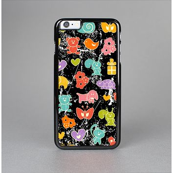 The Furry Fun-Colored Critters Pattern Skin-Sert for the Apple iPhone 6 Skin-Sert Case
