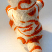 Needle Felted Cat Doll for kids