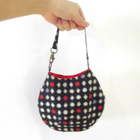 Small bag / Bag in bag / Mini bag / with Kimono Obi fabric / kasuri