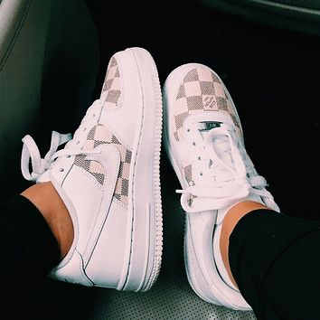 Louis Vuitton LV x Nike Air Force 1 Low-Top Sneakers Shoes