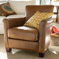 IRVING LEATHER ARMCHAIR