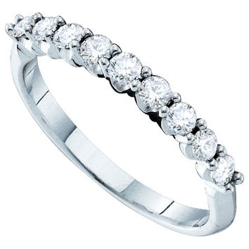 Diamond Ladies Fashion Ring in 14k White Gold 0.5 ctw