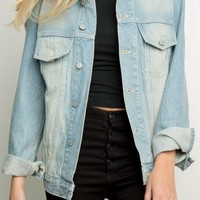 BOYFRIEND FIT DENIM JACKET