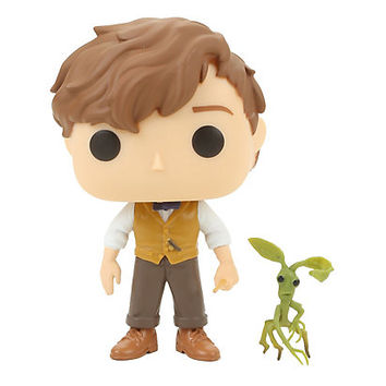 Funko Fantastic Beasts And Where To Find Them Pop! Newt Scamander & Picket Vinyl Figure Hot Topic Exclusive