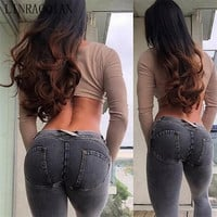 Sexy low waist push up jeans women pants high elasticity denim fabric leggings freddy pants mention hip trousers freddy jeans