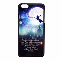 Peter Pan Quote Disney In The Moon iPhone 6 Case
