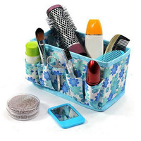 1pc Multifunction Open Cosmetic Bag Beauty Floral Organizer Make up Bag New Folding Makeup Cosmetics Storage Box
