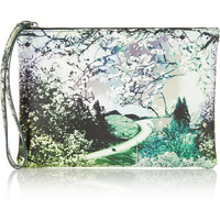 Mary Katrantzou | Printed leather clutch | NET-A-PORTER.COM
