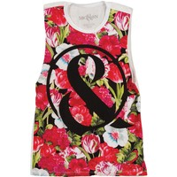 Of Mice & Men Women's  Floral Sublimated Womens Tank Multi Rockabilia