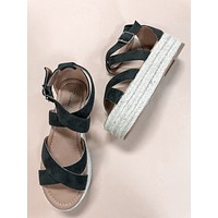 Layla Black Espadrille Sandals