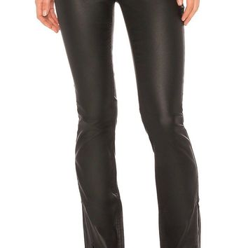 Free People Spellbound Coated Bootcut Jean Black