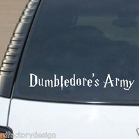Harry Potter Inspired Dumbledore's Army D.A. Vinyl Decal Die Cut Car Sticker