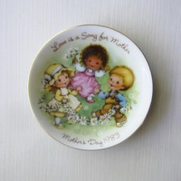 Vintage Mothers Day Collectible Plate Titled Love is a Song For Mother