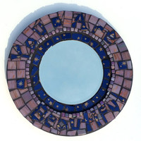 Positive Affirmation Mosaic Art Mirror. Good Vibe Decorative Wall Mirror. You Are Beautiful. Unique OOAK Home Decor.