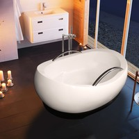 Freestanding oval acrylic bathtub ADMIREME by Aquatica Plumbing Group