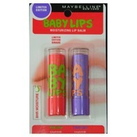 Maybelline Limited Edition Baby Lips Duo Pack - Pink Wink, Peach Kiss