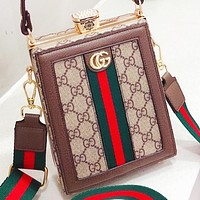 GUCCI Fashion New More Letter Print Canvas Shopping Leisure Shoulder Bag Handbag Crossbody Bag