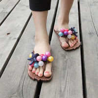Rainbow Grape Starfish Slippers For Her from FUNKISS