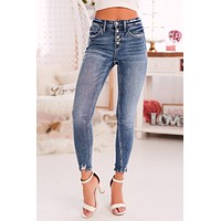 Better Off Together Cropped Skinny Flying Monkey Jeans (Medium)