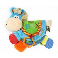 Baby Soft Toys Cute Donkey Animal Cloth Book For Toddlers Christmas Gift Learning Education Toys