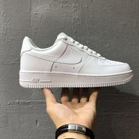 Tagre™ ONETOW Originals Nike Air Force One 1 Classic Low All White Shoes AF1 '07 315122-111