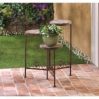 Weathered Wood Planter Stand
