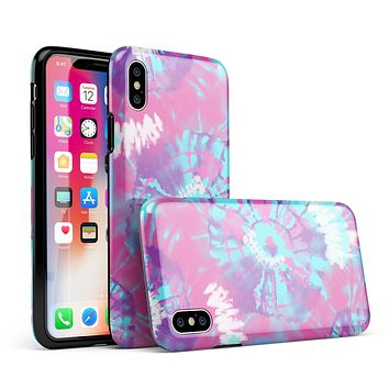 Spiral Tie Dye V5 - iPhone X Swappable Hybrid Case