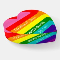 Rainbow Flag Original 8 Stripes LGBT Gay Marriage Paperweight