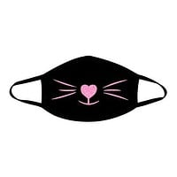 Meow Neon UV Pink Face Mask