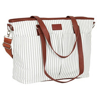 Diaper Bag by Hip Cub - Designer Messenger - W/ Stylish Stripe Baby Changing Pad