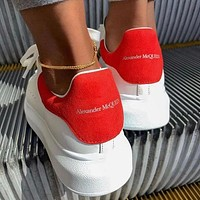 Alexander Mcqueen Woman Casual Sneakers Sport Shoes Red