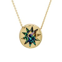 House of Harlow Mini Sunburst Necklace in Metallic Gold