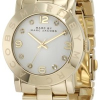 Marc by Marc Jacobs Amy Crystal Accented Gold-Tone Womens Watch MBM3056